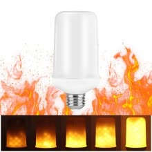 -SUPli Fire Atmosphere Decorative Bulb with Standard Base Flickering Flame Lamp on JD