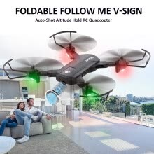 toys-kids-baby-Новые SG900-S Rc Drone Folding GPS Smart Follow + Full HD FPV Широкоугольная камера + 360 ° Вращение + V-Sign + Жест Видео + Real-T on JD