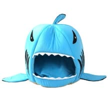 pet-beds-furniture-Shark Shape Dual Purpose Soft Cotton Cats Dogs House And Pad Pet Supplies on JD
