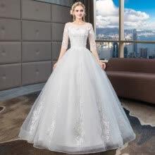 81df68c7e19 -Xi Diao 2019 Новое свадебное платье с половиной рукавом зашнуруйте на бальное  платье Принцесса роскошные