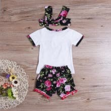 boy-sportswear-Toddler Kids Baby Girl Cute Outfits Short Sleeve Shirt Tops+Short Pants Headband on JD