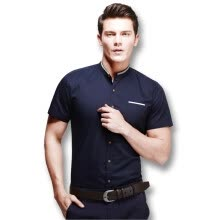 875061442-New Summer Men Shirts 2016 Hot Sale Men's Short Sleeves Shirts Solid Stand Collar Casual Men Slim Fits Shirts Plus Size M-5XL on JD
