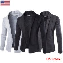 -US Men's Casual Slim Fit Knit V-Neck Cardigan Stylish Sweater Coat Jacket Tops T on JD