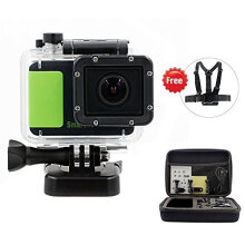 87506-Smarhd 1080P Waterproof Action Camera Novatek NT96650 DSP DV 3MP HD CMOS Image Sensor DVR Camcorder + Mounting Accessories Kit (Green) on JD