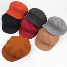 hats-caps-The children of the new autumn and winter wool beret octagonal cap, Korean version of artistic and simple style 100 match the soli on JD