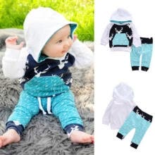 -2Pcs Toddler Baby Boys Hoodie Tops Pants Tracksuit Outfits Set Casual Clothes on JD