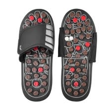-Acupressure Massage Slipper Foot Massager Jade Stone Acupoint Massage Slippers Shoes Reflexology Sandals for Men Women Black S/M/L on JD