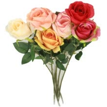 artificial-plants-Artificial Rose Bouquets Six Gift Table Home Office Wedding on JD