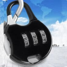 875071722-New Black Mini 3 Dial Number Code Padlock Combination Luggage Lock Password # on JD
