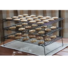 -Cake Baking Tools 3 Fold Stackable Cooling Rack Dry cake stand Kitchenware Baking Utensil on JD
