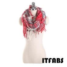 ethnic-wear-New Soft Women Tassel Plaid Scarf Winter Warm Cotton Scarves Knitted Collar UK on JD