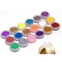 nail-polishes-18 Colors Nail Art Glitter Powder Dust For UV GEL Acrylic Powder Decoration Nail Art DIY Tip Decoration Glitters on JD
