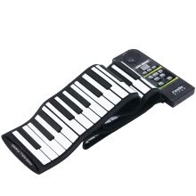 -88 Key Electronic Piano Keyboard Silicon Flexible Roll Up Piano with Loud Speaker on JD