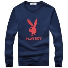 875061884-Playboy PLAYBOY sweater men's fashion casual round neck long sleeve t-shirt 16045PL1910 Po Lan 3XL on JD