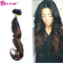 clip-in-hair-extensions-Two Tone Clip In Human Hair Extensions 100g Clip In Hair Extensions For Black Women Ombre #1b/#4 Color Brazilian Zax Hair on JD