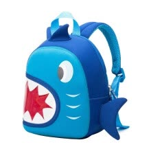 7ee2ad590906 NOHOO Waterproof Children School Bags Backpack Blue 3D Shark Kids Baby Bags  Cartoon Animal Children School Bags