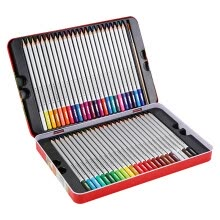-M&G AWPQ1502 Round Flat Headed Wooden Color Pencils in 24 Colors (Packed in Kraft Box) on JD
