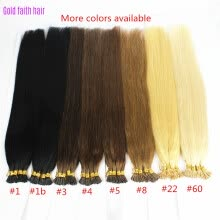 -1g/s 100g Human Remy Hair Ash Brown Platinum Blonde Straight Custom Capsule Keratin Stick I-tip Human Hair Extensions on JD