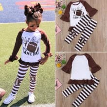 -Toddler Kids Baby Girls Outfits Clothes T-shirt Tops Dress+Long Pants 2PCS Sets on JD