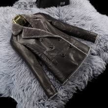 875061819-lady genuine leather short jacket 100% real sheep leather coat women sheepskin winter clothing on JD