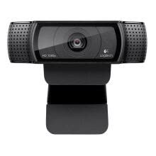 -Logitech HD Pro Webcam C920, Widescreen Video Calling and Recording, 1080p Camera, Desktop or Laptop Webcam on JD