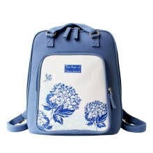518015193c4c Flowers princess innocence chan art shoulder bag small fresh leisure trend  backpack 1507SD001 blue