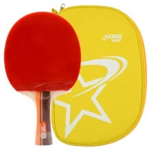 8750507-Double Happiness DHS 2 star double-sided anti-fat table tennis straight shot arc combined fast-break table tennis racket A2006 single shot film sets on JD