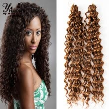 -(2pcs/lot)#27 New Premium Deep Wave Synthetic Hair Extension Curly Synthetic Weave Jerry Curl Crochet Braid Freetress Deep Twist on JD