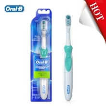 -Oral B Cross Action Electric Toothbrush Deep Clean Teeth Whitening Non-Rechargeable Power Teeth Brush 4 Colors Use AA Battery on JD