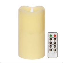 candles-holders-Remote Control Moving Wick Led Candle With Timer,Pillar Top,Ivory,3x5 Inches,By Simplux on JD