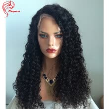 -Hesperis Hot Sale Fashion and Beauty Brazilian Deep Curly 180 Density Full Lace Human Hair Wigs on JD