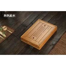 -Bamboo Chinese Gongfu Tea Ceremony Table Serving Tray w/t Water Tank 34.5*22.5cm on JD