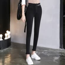 leggings-KuoyiHouse 0028 2017 new high waist nine pants pants spring black stretch pants pants pants pants tight tattoo thin feet pants black XXL on JD