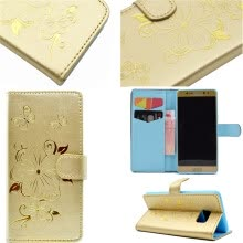 -Gold Hot Stamping Foil Gold Design PU Leather Flip Cover Wallet Card Holder Case for Samsung GALAXY Note 7 on JD