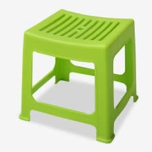 8750213-Handsome plastic stool bathroom small square low chair stool balcony casual bench dining table stool green SL16106D4 on JD