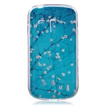 -Plum blossom Pattern Soft Thin TPU Rubber Silicone Gel Case Cover for SAMSUNG GALAXY S3 Mini I8190 on JD
