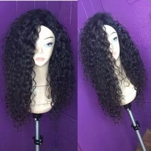 -Brazilian Curly Lace Front Wig With Baby Hair Afro Kinky Curly Lace Front Human Hair Wigs for Black Women on JD