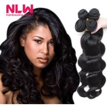 -Free Ship Prices of Cheap Weaves 5 Bundles Natural Black Color NLWHair Malaysian Virgin Human Hair Body Wave Extension 10A Full on JD