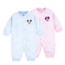 -[Jingdong Supermarket] Disney baby one-piece clothing baby jeans climb long sleeves before and after opening the crotch underwear DA712GE22P0166 light powder point 66 on JD