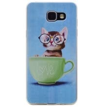 -Glasses cat Pattern Soft Thin TPU Rubber Silicone Gel Case Cover for SAMSUNG Galaxy A3 2016/A310 on JD