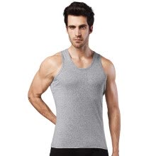 -Heng Yuan Xiang ZC-303 Men's Vest Cotton Seal Gray Men's tight-fitting short-sleeved sweater sweater sports hurdles underwear Men's Slim-type elastic primer shirt 170/95 L on JD