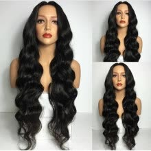-8A Quality Loose Wave 150% Density Gluless Full Lace Wigs Front Lace Wig Brazilian Virgin Human Hair Full Lace wigs With Baby Hair on JD