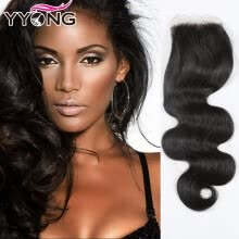 -Sale Promotion Peerless Virgin Hair Peruvian Body Wave Closure YYONG Hair Products 8A Peruvian Lace Closure Fast Shipping on JD