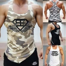 -Fitness Men Tank Top Army Camo Camouflage Mens Bodybuilding Stringers Tank Tops Singlet Brand Clothing Sleeveless Shirt on JD