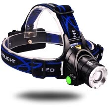 8750502-Zoomable head flashlight hunting light Waterproof rechargeable 10W T6 LED Headlamp with 2*18650 lithium battery on JD