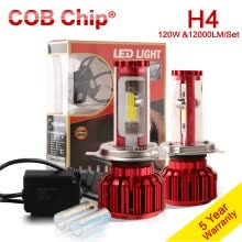 875063308-120W 10000LM H4 LED Headlight Kit 9003 Bulb Hi/Lo Beam HB2 COB Lamp 5000k 6000k on JD