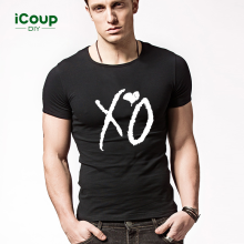 -2017 icoup spring & summer new personality pattern XO with t - shirt on JD