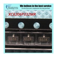 -50pcs free shipping XC6206P332MR 662K XC6206 3.3V/0.5A Positive Fixed LDO Voltage Regulator SOT-23 new original on JD