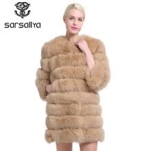 fur-SARSALLYA real fur fox fur coat design ladies winter really fox fur coat detachable real fur coat wome on JD