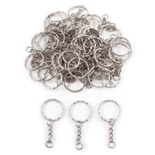 87502-50pcs DIY Metal Split Key Rings Jump Ring for Keychain DIY Crafts Makings on JD